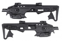 Conversion kit comes with sight set and forearm grip.