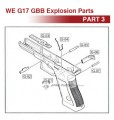 WE G17 GBB Original Parts (Part 3)